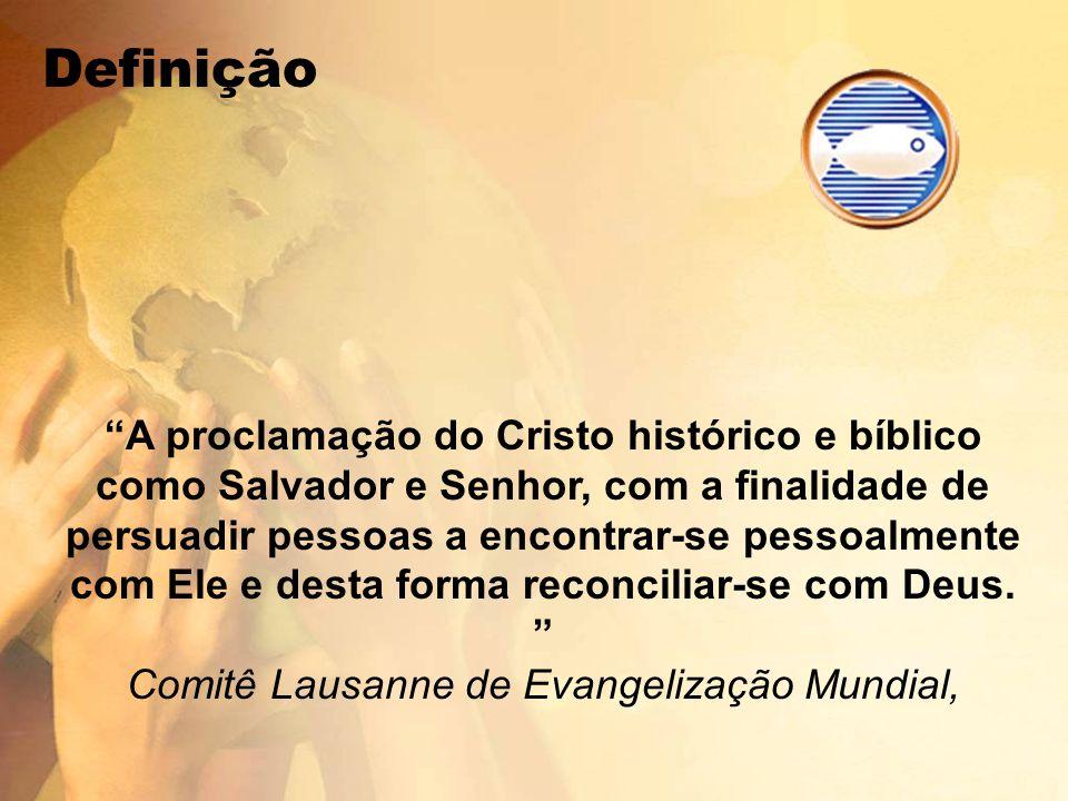 A proclamação do Cristo histórico e bíblico como Salvador e Senhor, com a finalidade de persuadir pessoas a encontrar-se pessoalmente com Ele e desta forma reconciliar-se com Deus.