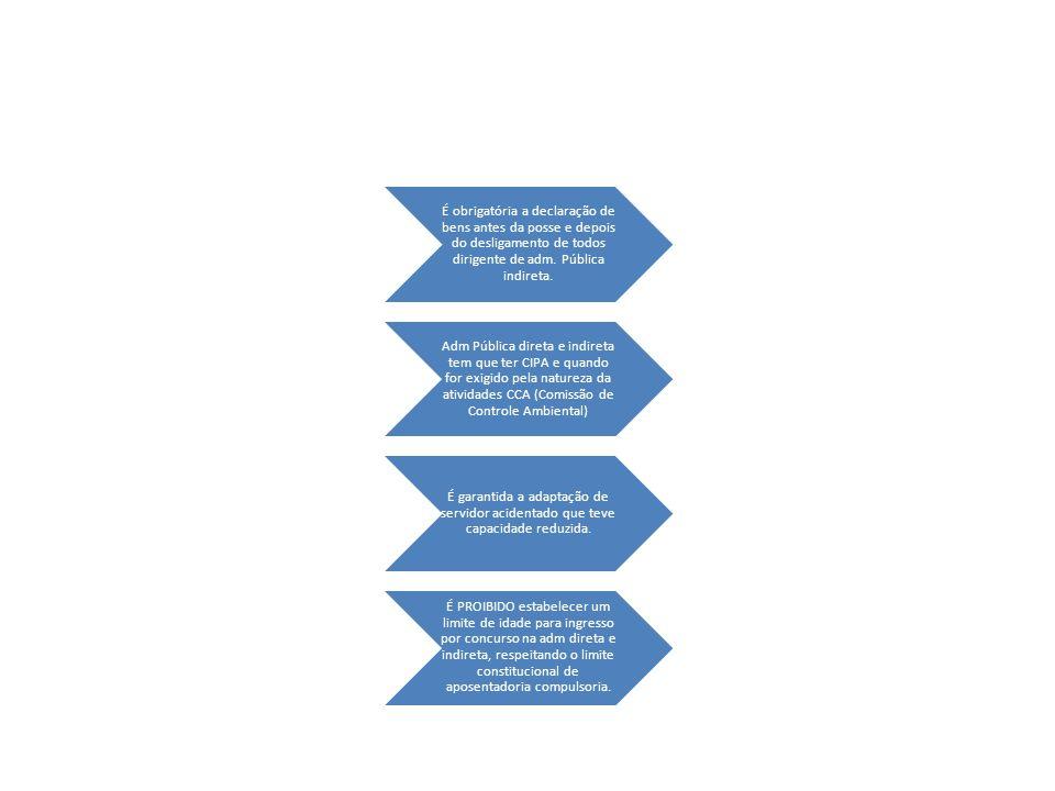 É obrigatória a declaração de bens antes da posse e depois do desligamento de todos dirigente de adm.