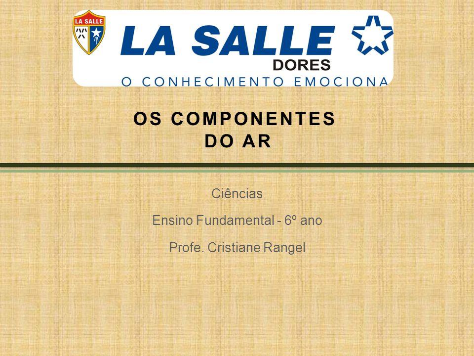 OS COMPONENTES DO AR Ciências Ensino Fundamental - 6º ano Profe. Cristiane Rangel