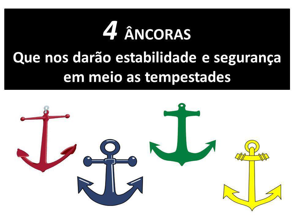 ÂNCORA A âncora é considerada um símbolo de firmeza, força, e que, em meio as tempestades, é capaz de manter a estabilidade dos barcos.