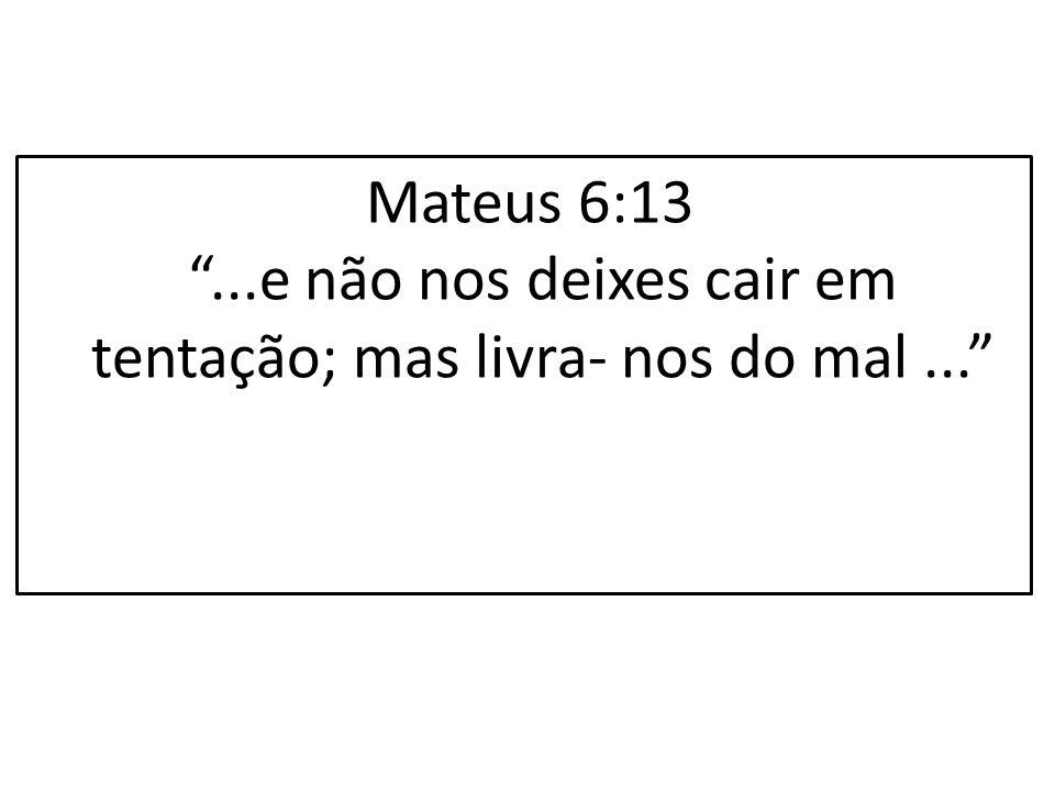 """Mateus 6:13 """"...e não nos deixes cair em tentação; mas livra- nos do mal..."""""""