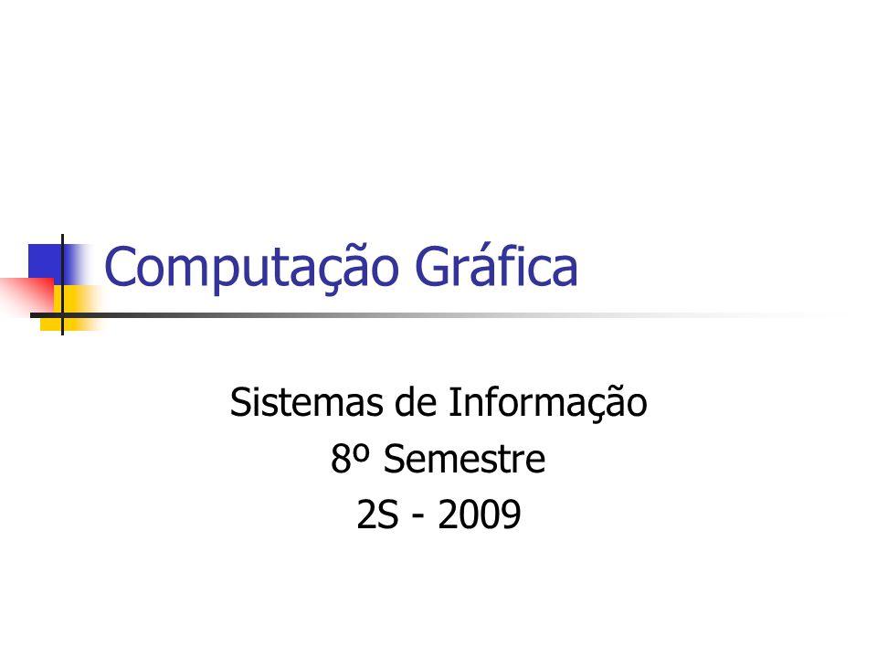 Computação Gráfica Sistemas de Informação 8º Semestre 2S - 2009
