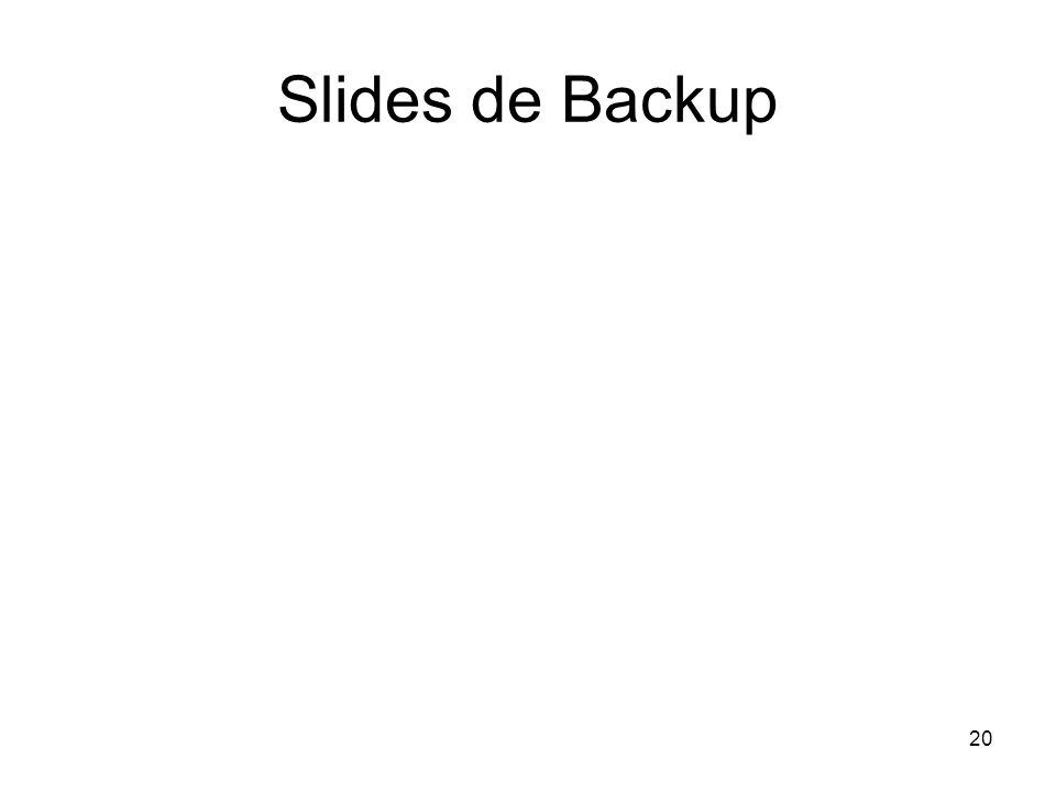 20 Slides de Backup