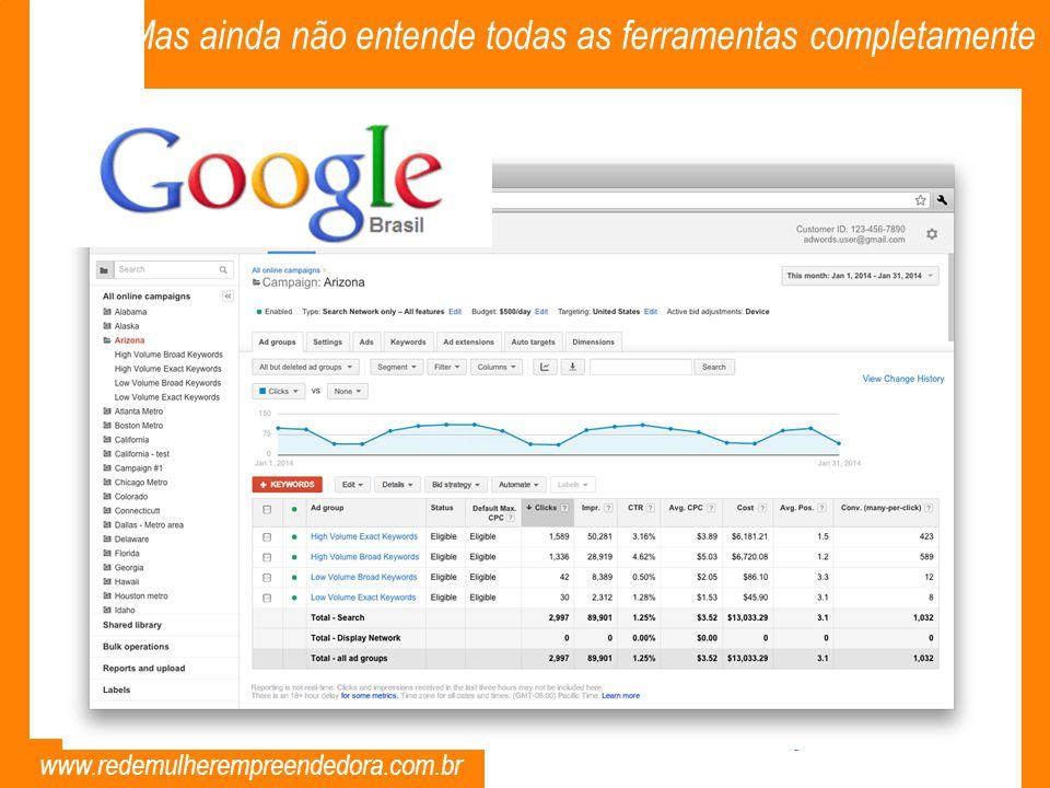 www.redemulherempreendedora.com.br Mas ainda não entende todas as ferramentas completamente