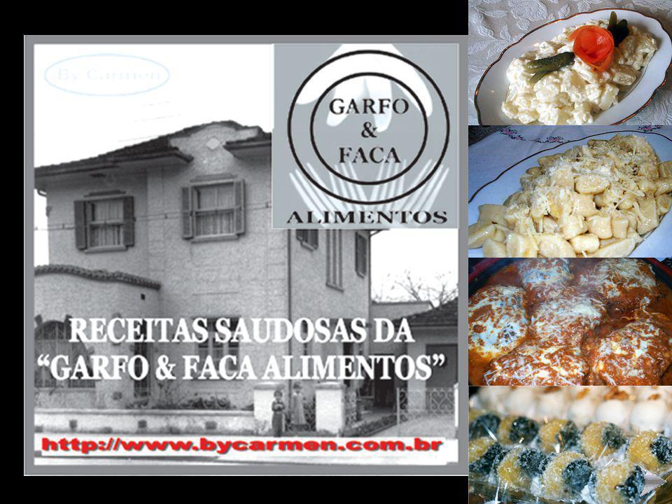 """RECEITAS DA GRIFE """"GARFO & FACA ALIMENTOS"""" CLICAR COM O MOUSE PARA AVANÇAR OS SLIDES"""