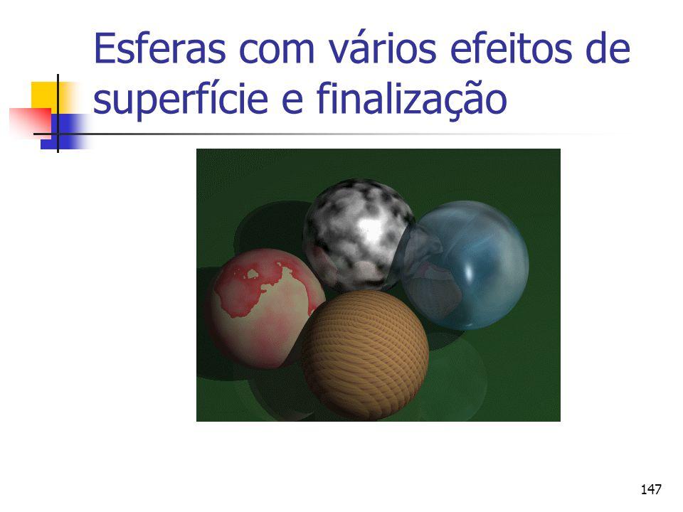 147 Esferas com vários efeitos de superfície e finalização
