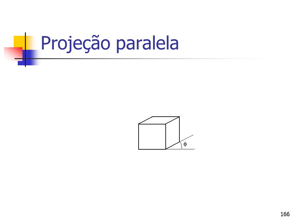 166 Projeção paralela