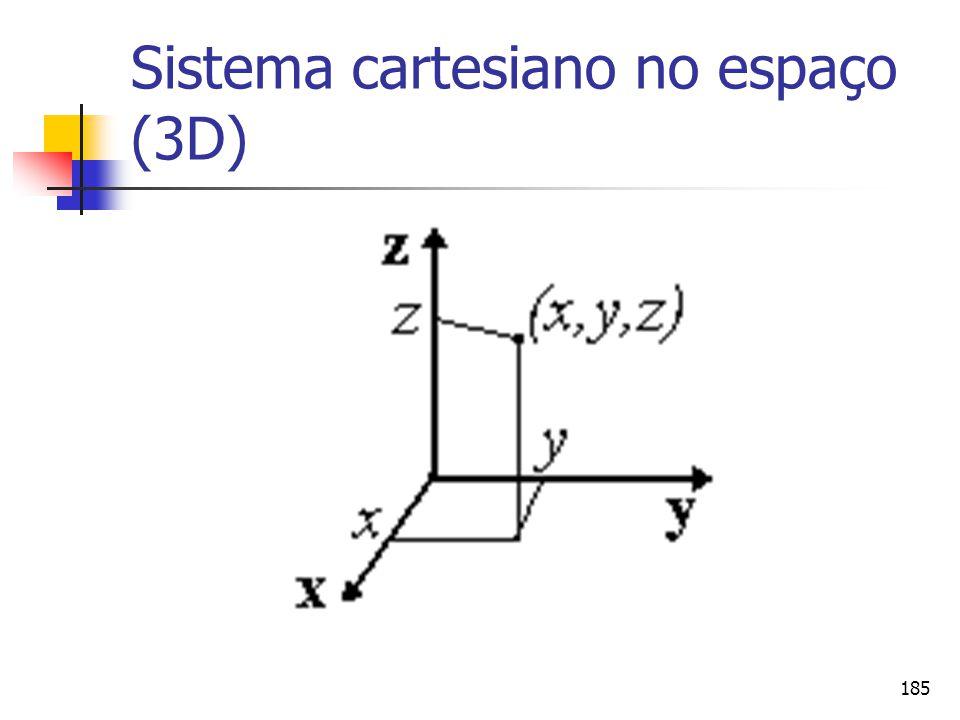 185 Sistema cartesiano no espaço (3D)