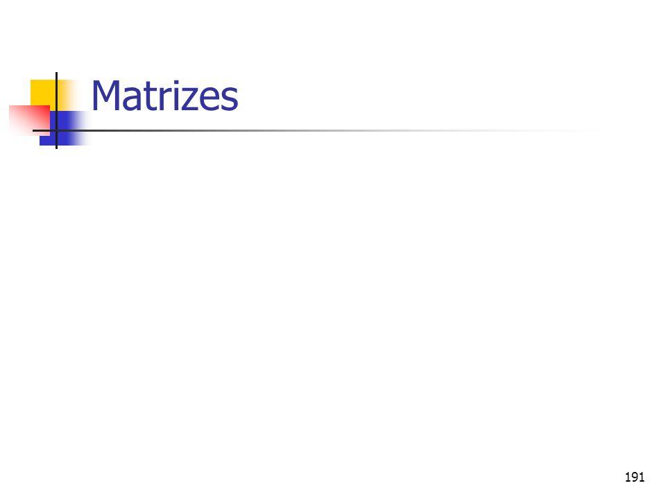 191 Matrizes