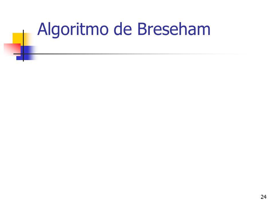 24 Algoritmo de Breseham
