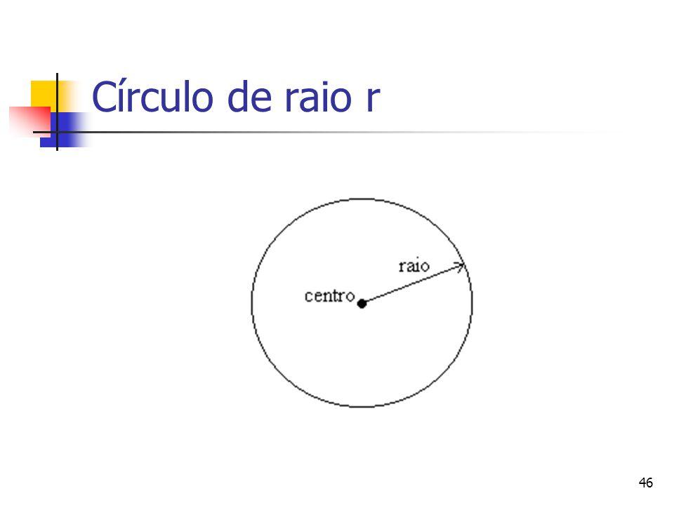 46 Círculo de raio r