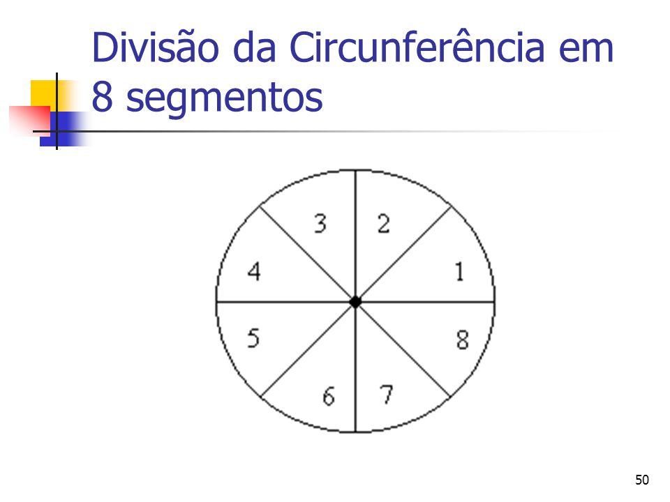 50 Divisão da Circunferência em 8 segmentos