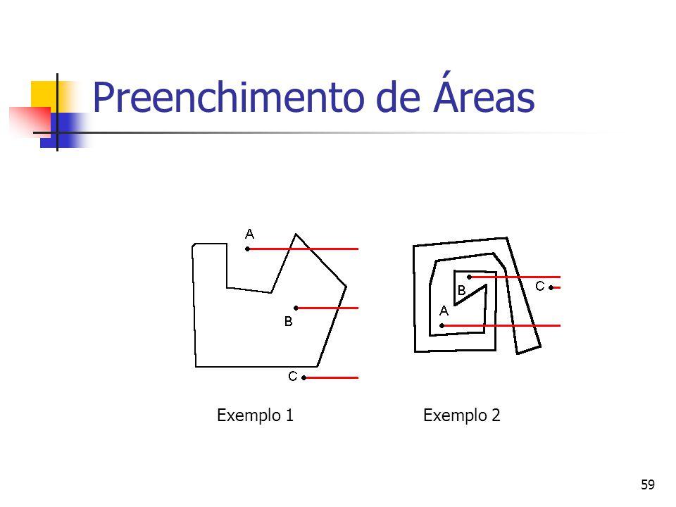 59 Preenchimento de Áreas Exemplo 1Exemplo 2