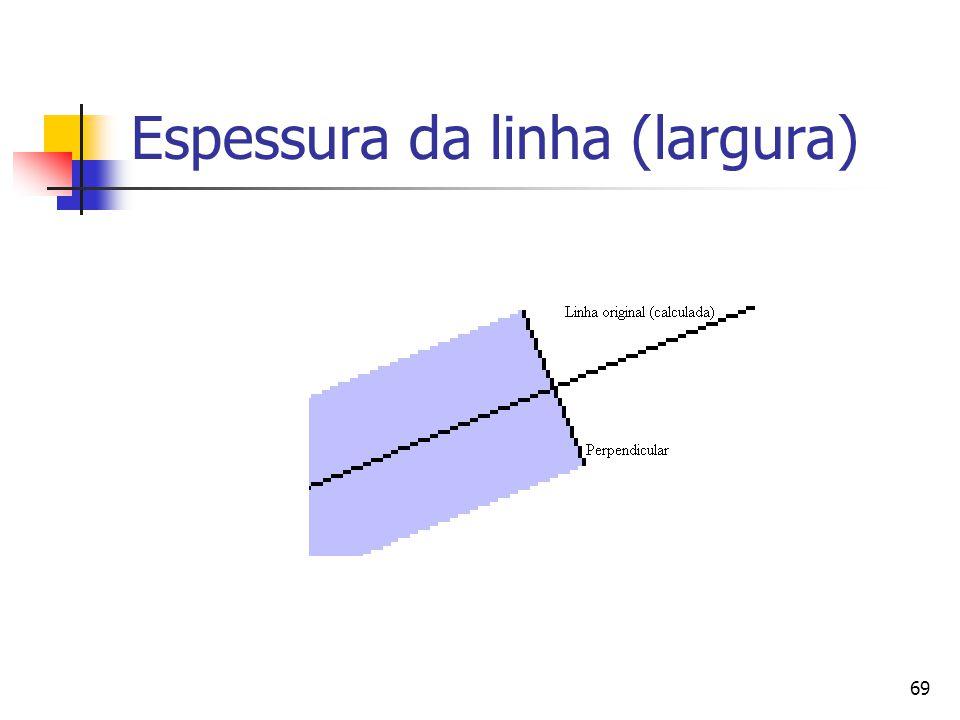 69 Espessura da linha (largura)