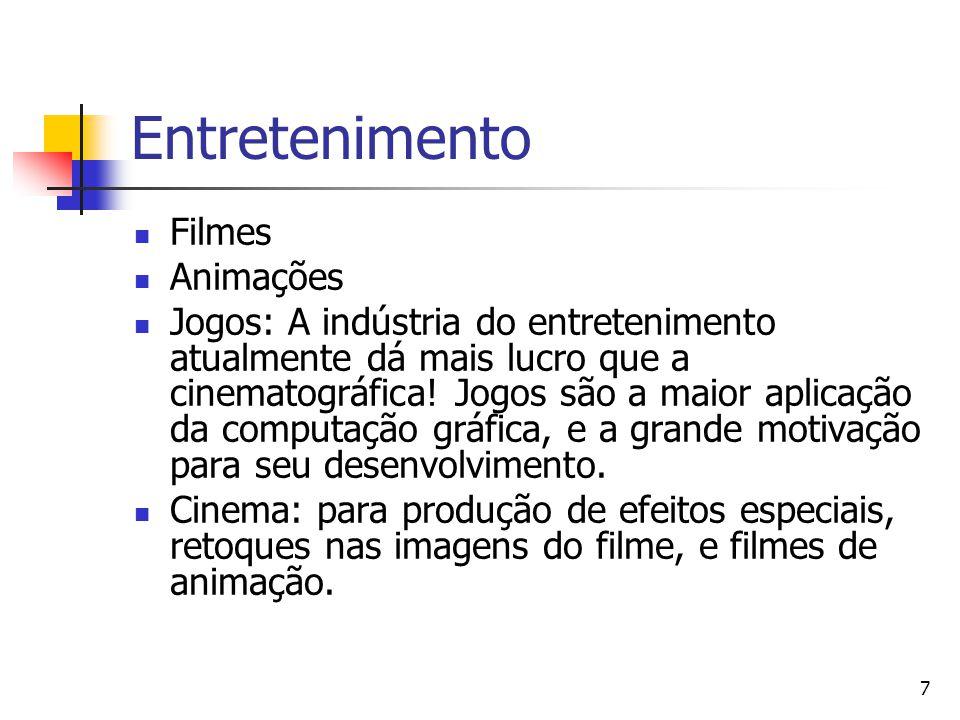 7 Entretenimento Filmes Animações Jogos: A indústria do entretenimento atualmente dá mais lucro que a cinematográfica! Jogos são a maior aplicação da