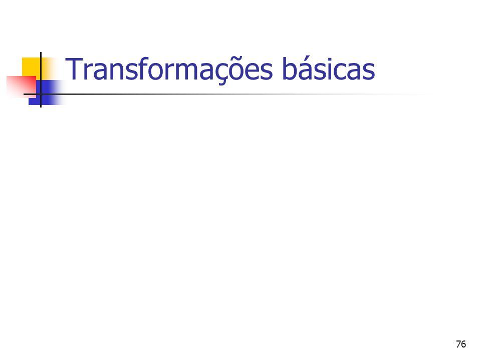 76 Transformações básicas