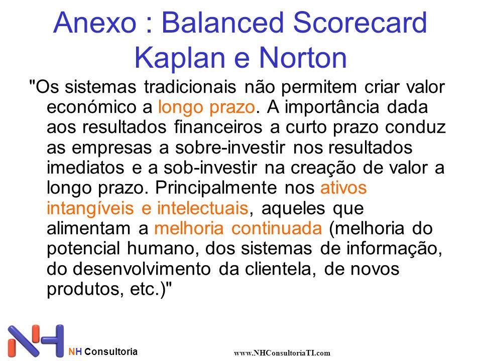 NH Consultoria www.NHConsultoriaTI.com Anexo : Balanced Scorecard Kaplan e Norton