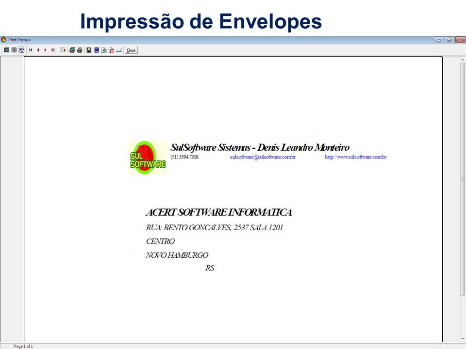 Impressão de Envelopes