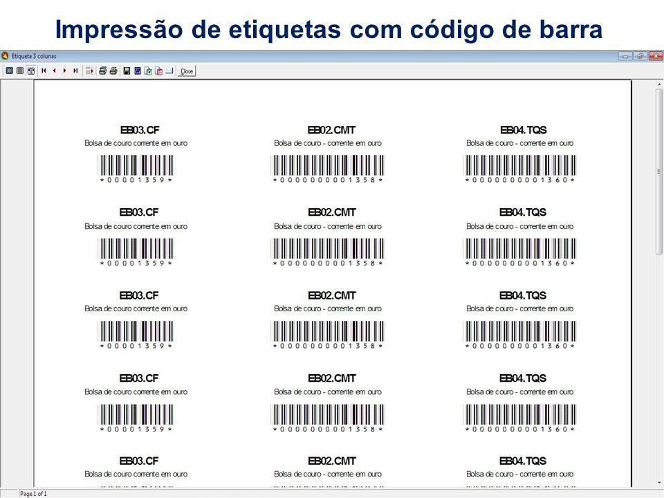 Impressão de etiquetas com código de barra