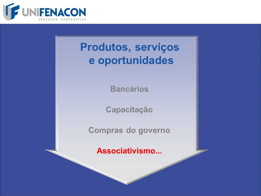 Bancários Capacitação Compras do governo Associativismo... Produtos, serviços e oportunidades