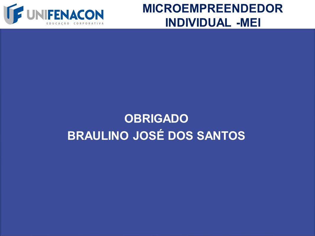 MICROEMPREENDEDOR INDIVIDUAL -MEI OBRIGADO BRAULINO JOSÉ DOS SANTOS