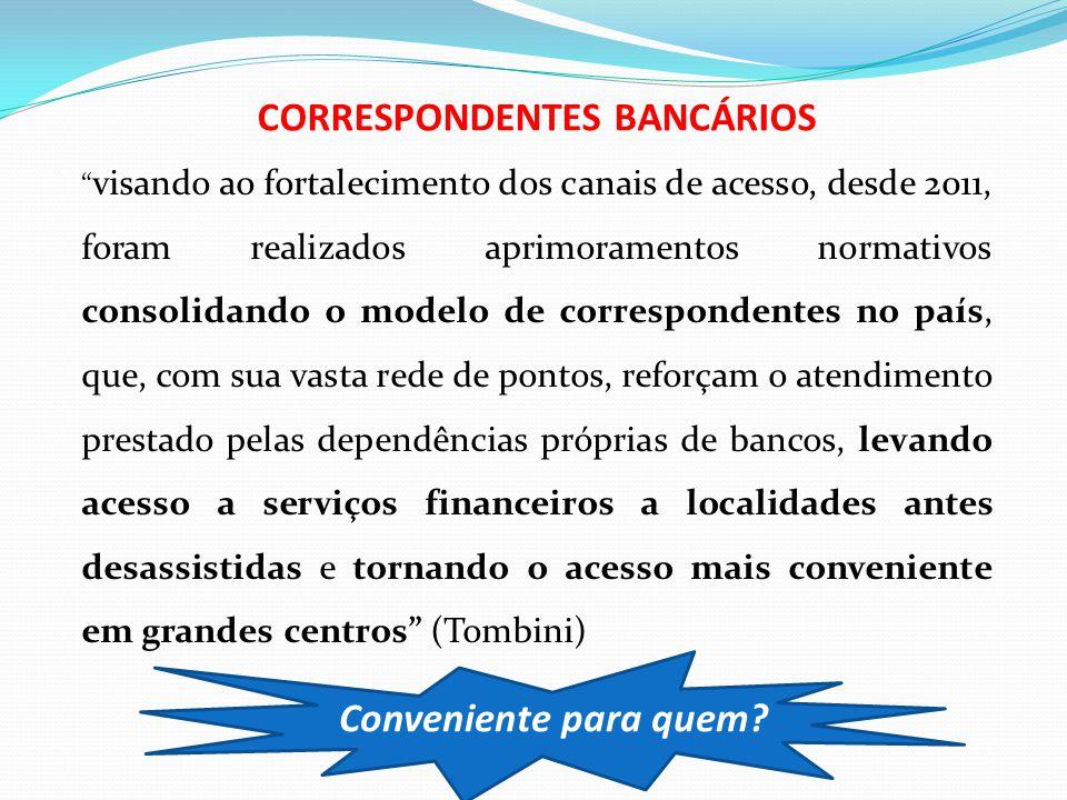 """"""" visando ao fortalecimento dos canais de acesso, desde 2011, foram realizados aprimoramentos normativos consolidando o modelo de correspondentes no p"""