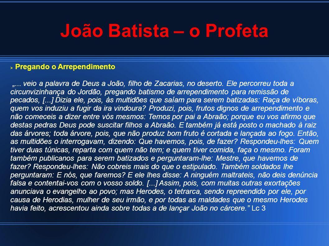 """João Batista – o Profeta  Pregando o Arrependimento """"..."""
