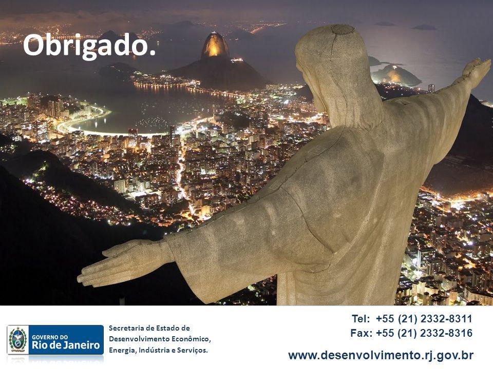Tel: +55 (21) 2332-8311 Fax: +55 (21) 2332-8316 www.desenvolvimento.rj.gov.br Secretaria de Estado de Desenvolvimento Econômico, Energia, Indústria e
