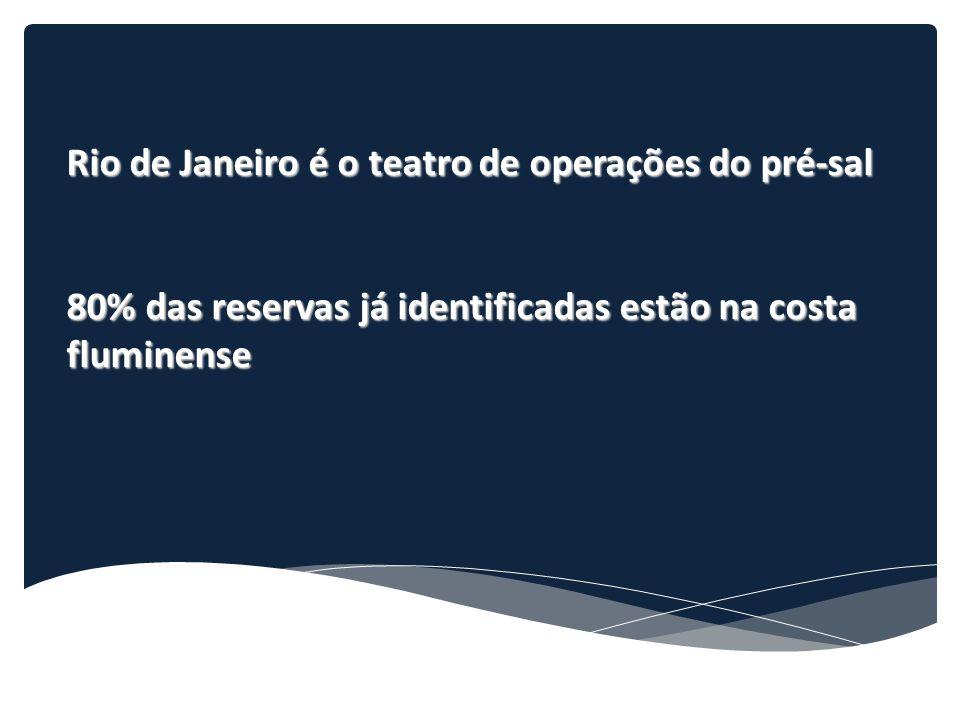 Rio de Janeiro é o teatro de operações do pré-sal 80% das reservas já identificadas estão na costa fluminense