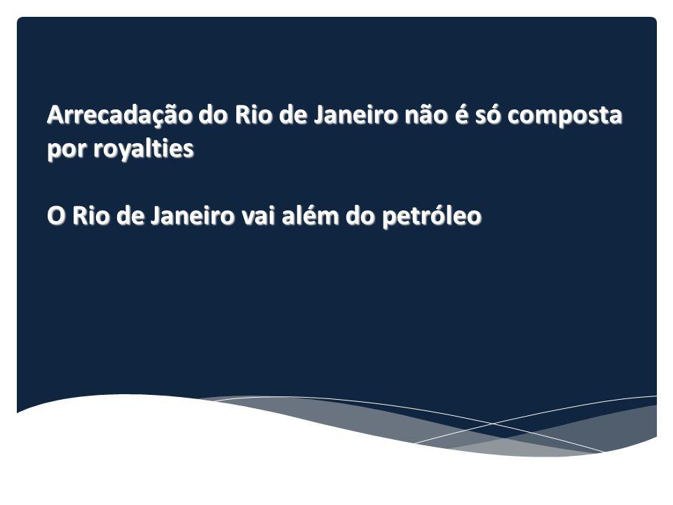 Arrecadação do Rio de Janeiro não é só composta por royalties O Rio de Janeiro vai além do petróleo