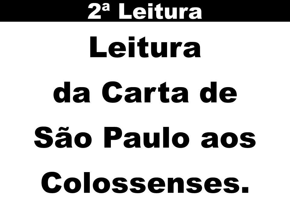 Leitura da Carta de São Paulo aos Colossenses. 2ª Leitura