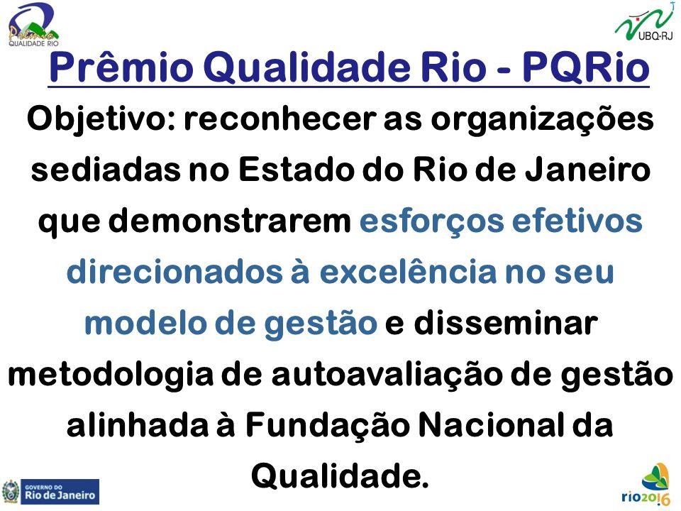 Objetivo: reconhecer as organizações sediadas no Estado do Rio de Janeiro que demonstrarem esforços efetivos direcionados à excelência no seu modelo d