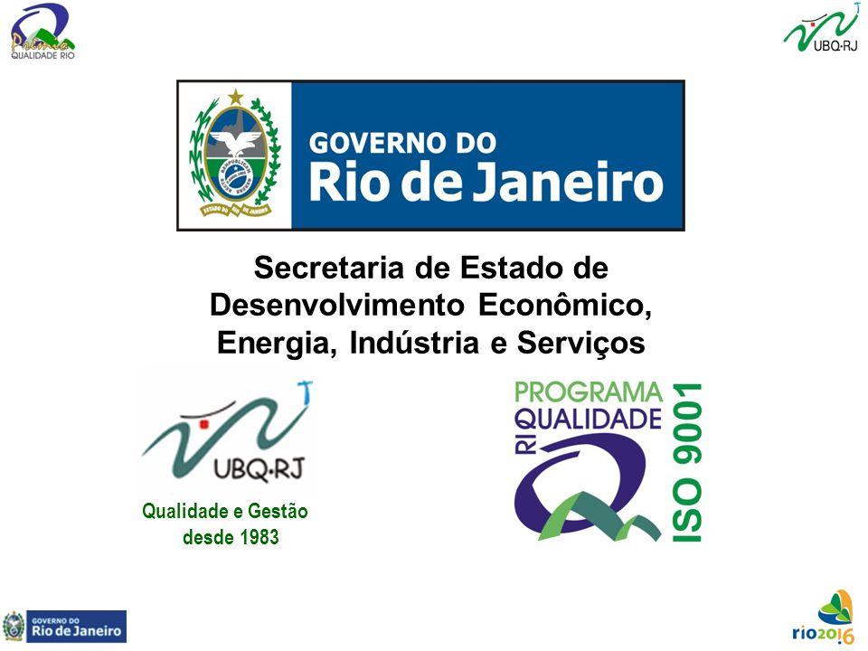 Secretaria de Estado de Desenvolvimento Econômico, Energia, Indústria e Serviços Qualidade e Gestão desde 1983