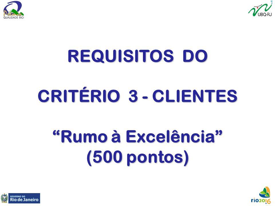 """REQUISITOS DO CRITÉRIO 3 - CLIENTES """"Rumo à Excelência"""" (500 pontos)"""