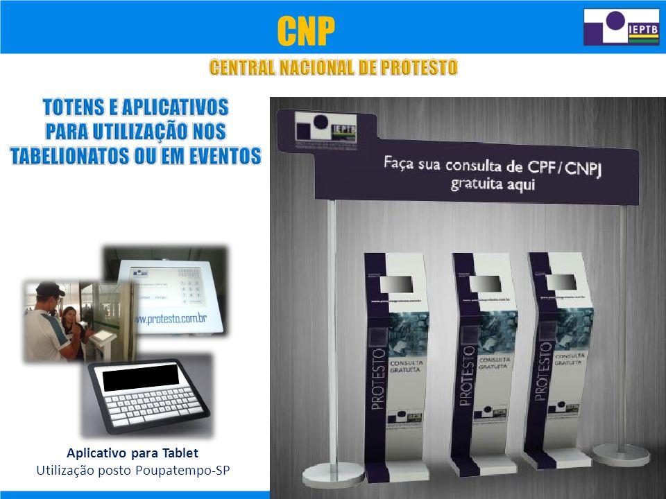 Aplicativo para Tablet Utilização posto Poupatempo-SP CNP