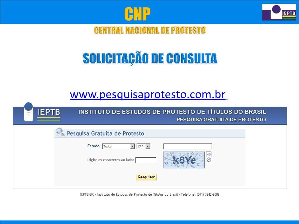 www.pesquisaprotesto.com.br CNP