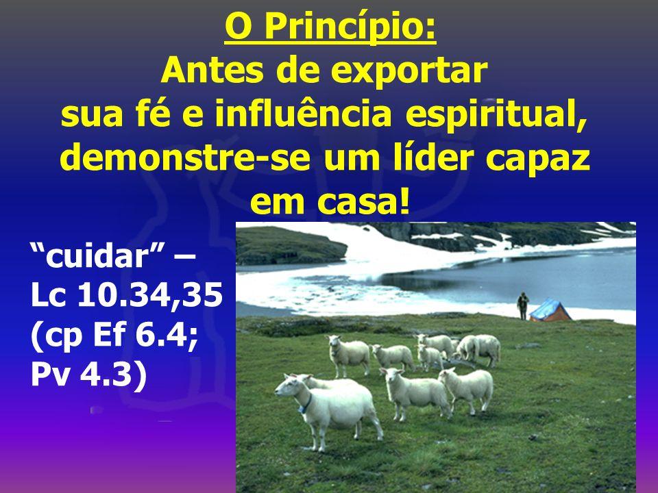 O Princípio: Antes de exportar sua fé e influência espiritual, demonstre-se um líder capaz em casa.
