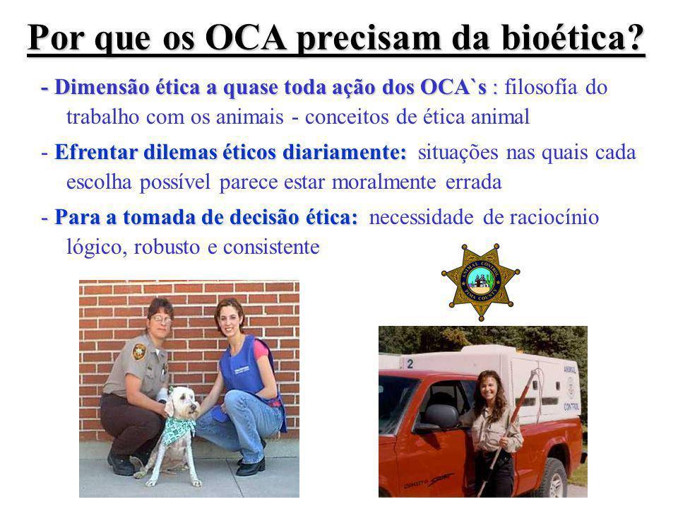 Por que os OCA precisam da bioética.