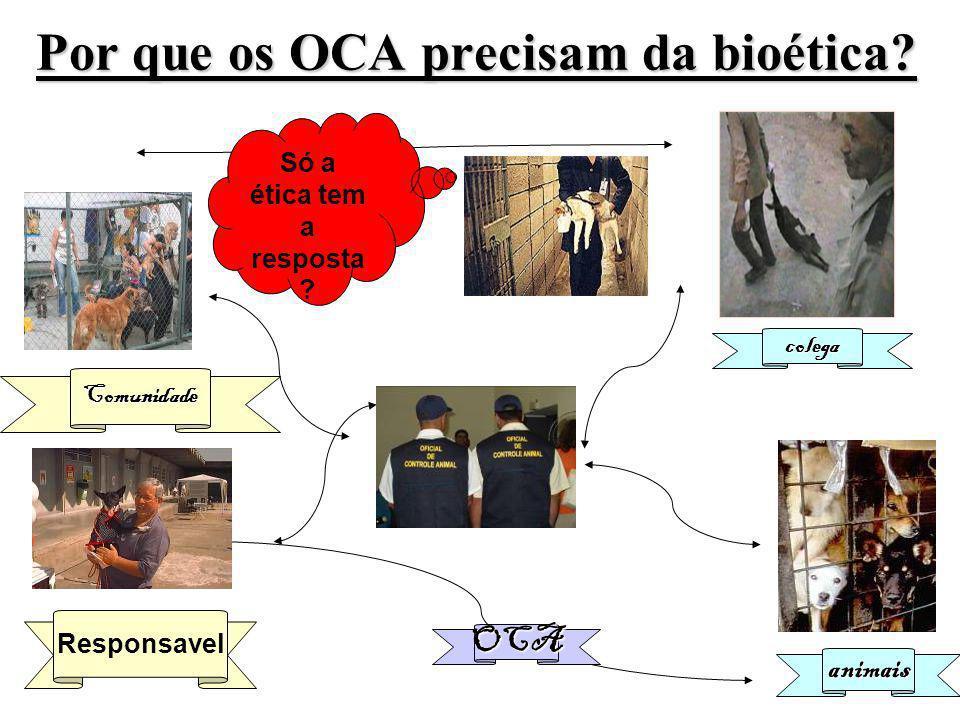 OCA Comunidade colega animais Só a ética tem a resposta .
