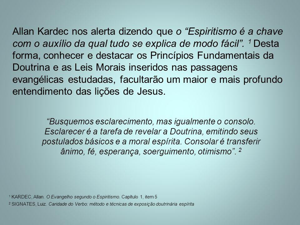 Allan Kardec nos alerta dizendo que o Espiritismo é a chave com o auxílio da qual tudo se explica de modo fácil .