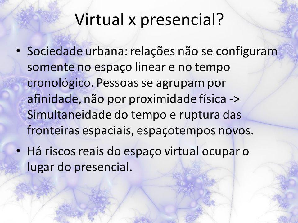 Virtual x presencial.