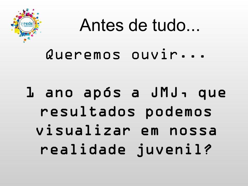 Por que participar? 1 Jovens do Brasil inteiro com diferentes propostas de evangelização