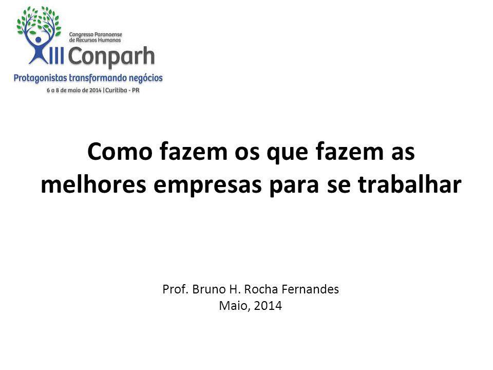 Sistemas de Gestão de Pessoas de Alta Performance (HPWS) Estudos sobre as Melhores Empresas para se Trabalhar no Brasil Algumas conclusões 1 2 3 Como fazem os que fazem as melhores empresas para se trabalhar