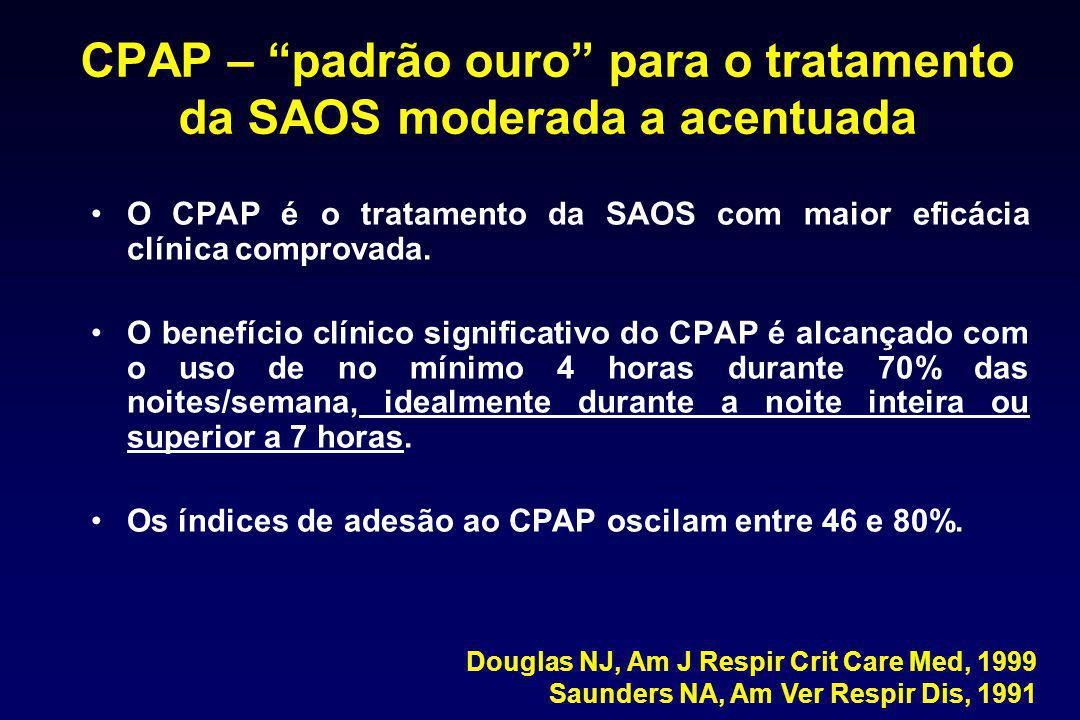 """CPAP – """"padrão ouro"""" para o tratamento da SAOS moderada a acentuada O CPAP é o tratamento da SAOS com maior eficácia clínica comprovada. O benefício c"""