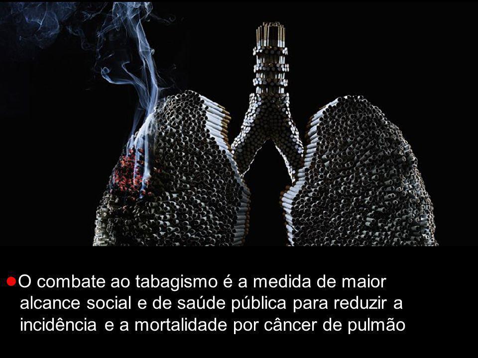● O combate ao tabagismo é a medida de maior alcance social e de saúde pública para reduzir a incidência e a mortalidade por câncer de pulmão