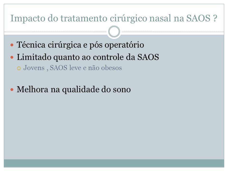 Impacto do tratamento cirúrgico nasal na SAOS .
