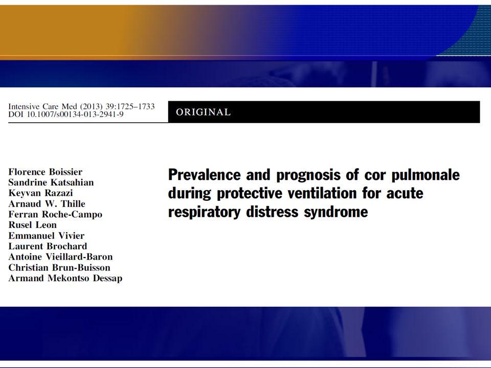 ARDS com ACP (22%), tem maior mortalidade Boissier F et al. Intensive Care Med (2013) 39:1725–1733