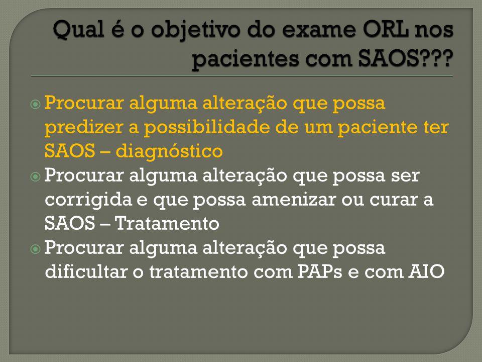  Múltiplos trabalhos: Alts VAS  Obstrutivas: causa da SAOS  Menores / inflamatórias: consequência da SAOS Alts crânio-faciais  Desproporções maxilo - mandibulares