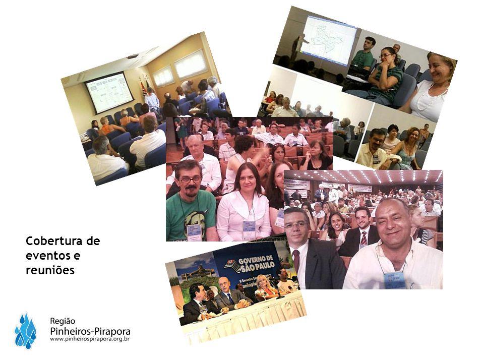 Cobertura de eventos e reuniões