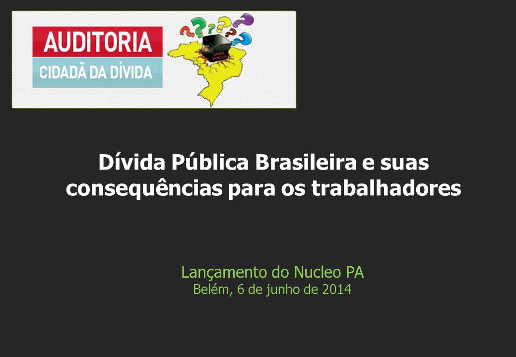 Lançamento do Nucleo PA Belém, 6 de junho de 2014 Dívida Pública Brasileira e suas consequências para os trabalhadores